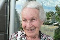 Ruth Hálová, která se v sobotu zúčastnila slavnostního odhalení Pomníku Rozloučení.