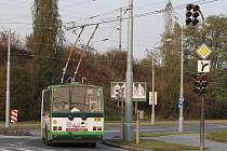 Vypnuté semafory na křižovatce Těšínské a Jateční ulice