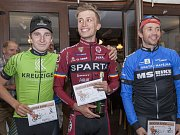 41 km - muži: zleva Michal Volf, Petr Malán a Daniel Egermeier.