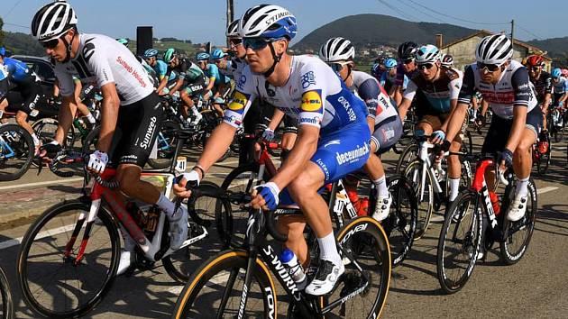 Český cyklista Zdeněk Štybar na trati letošní Vuelty, která má v neděli cíl v Madridu.