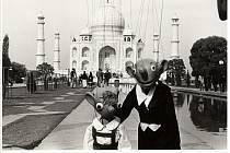 Hurvínek a Spejbl v Indii v roce 1968.