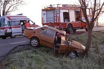 Nehoda u obce Kotouň