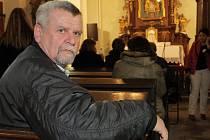 Pavel Jedlička při sobotním pietním setkání v kostele U Ježíška