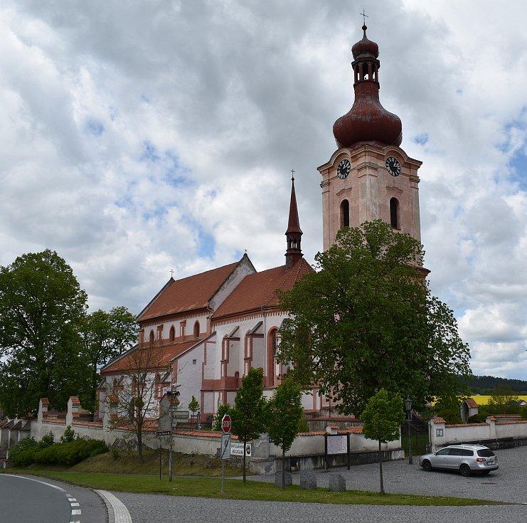 Kostel svatého Jakuba Většího v Nepomuku.
