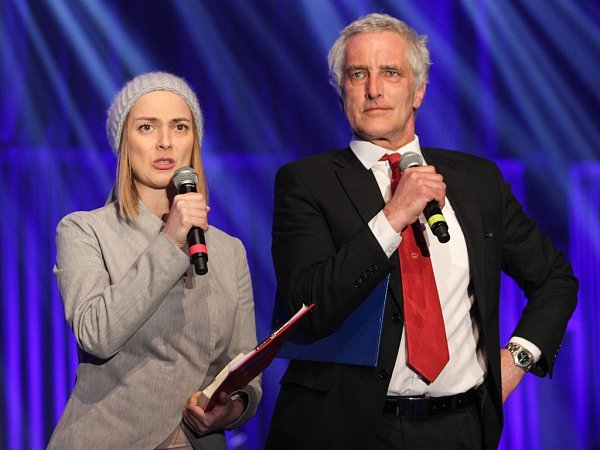 Barbora Poláková a Tomáš Hanák při loňském Žebříku