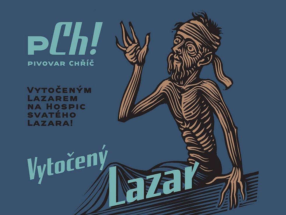 Logo benefiční kampaně Vytočený Lazar.