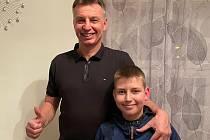 Miroslav Janota (vlevo) se synem Jakubem.