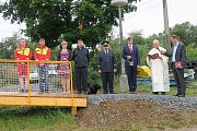 Slavnostní otevření stanice první pomoci vodních záchranářů na Hracholuské přehradě