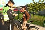 Policejní dopravně bezpečnostní akce v ulici U Prazdroje