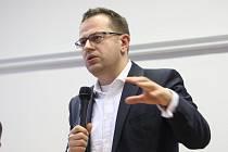 Debata Václava Moravce a Jana Vitáska v Plzni