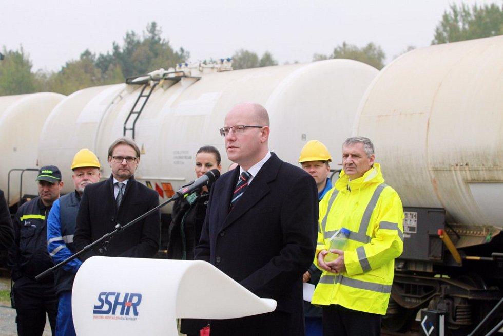 Do Třemošné dorazil i premiér Bohuslav Sobotka.