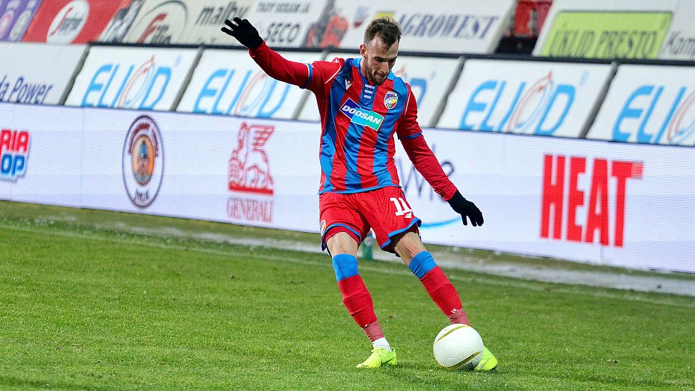 Matěj Hybš hrál druhý poločas zápasu domácího poháru proti Přepeřím.