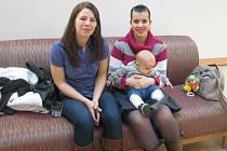 Veronika Gréková s Eliškou Horovou při první schůzce ohledně cvičení ve fitness centru Avalon