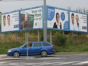 Předvolební poutače v Plzni