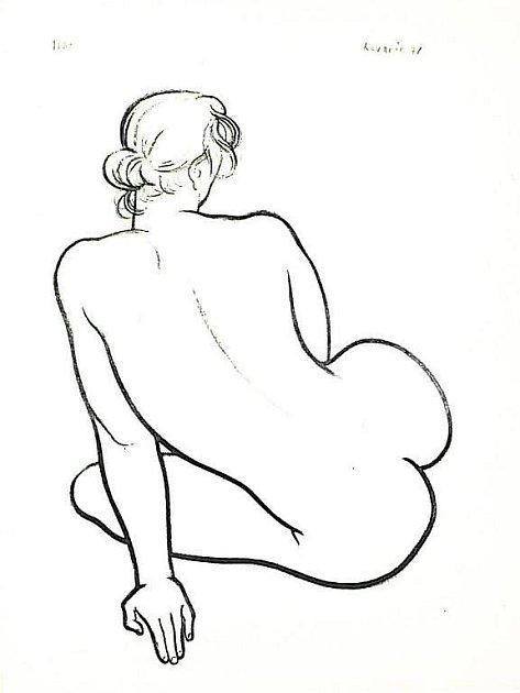 Jedna z kreseb od nezapomenutelného malíře Jiřího Kovaříka, které jsou vystaveny od středečního podvečera na nové výstavě v Galerii Jiřího Trnky v Plzni