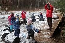 Dětská lesní školka Větvička v plzeňském Arboretu Sofronka