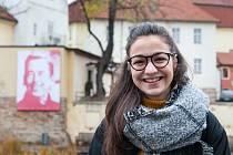 Portrét Václava Havla v Mlýnské strouze vytvořila studentka FDU Tereza Fialová.