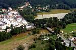 28. srpna 2002, letecký pohled na Sedlec