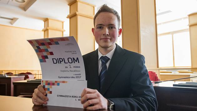 Vítěz Vojtěch Nováček - gymnázium Plzeň