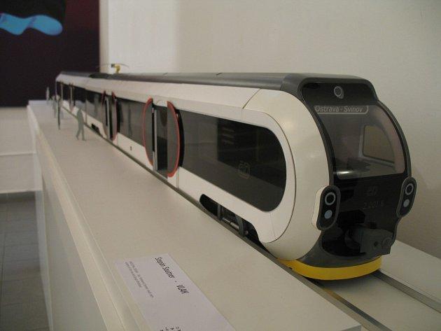 Návrh regionálního vlaku RandeVuu od designéra Štěpána Soutnera