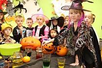 Děti si oslavu Halloweenu náležitě užily