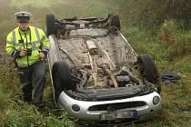 Pondělní tragická nehoda u Malesic