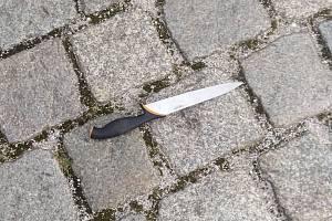 Nůž, který strážníci zabavili.