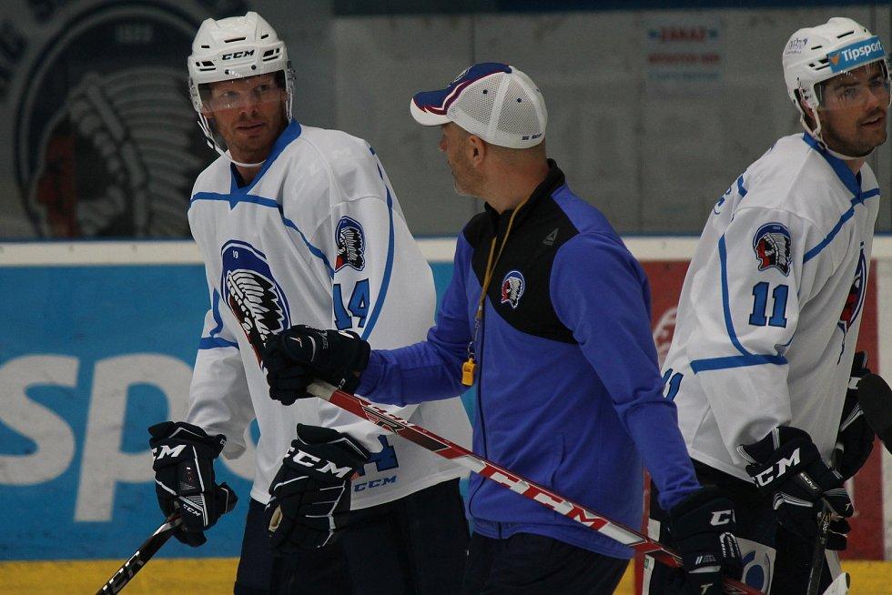 Trénink plzeňských hokejistů