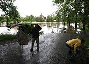 Povodeň v Plzni u sv. Jiří