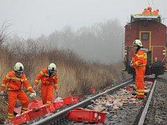 Nehoda zastavila vlaky, hasiči odklízejí z kolejí maso