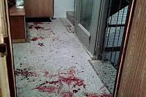 Následky incidentu v Rabštejnské ulici.