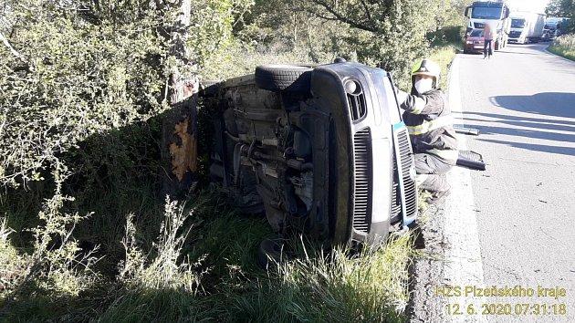 Nehoda uStarého Plzence.