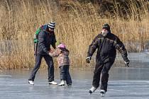 Bruslení na Boleveckém rybníku