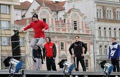 Přípravy na zahájení Evropského hlavního města kultury na náměstí Republiky v Plzni