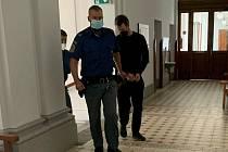 Obžalovaný Petr Libenský u soudu.