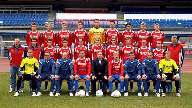 Skupinové foto fotbalistů Viktoria Plzeň