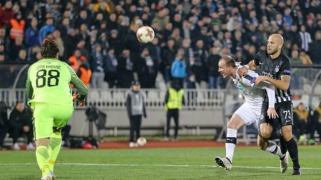 Hráči Viktorie Plzeň ve čtvrtek večer nastoupili v Bělehradě k prvnímu utkání vyřazovací fáze Evropské ligy proti domácímu Partizanu.