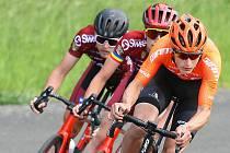 Cyklista Petr Kelemen na snímku z jarního Il Sano Cupu v Plzni vpravo.