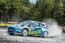 Plzeňská posádka Václav Pech junior, Petr Uhel s vozem Ford Fiesta R5 proměnila i třetí start v letošním domácím mistrovství ve stříbro.