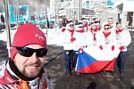 Marek Čech pomáhal nejenom na olympiádě, svou práci si prodloužil ještě na paralymiádě. Na snímku je uvítání českých sportovců.