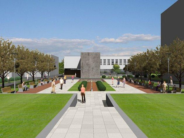 Vizualizace budoucího náměstí v Třemošné