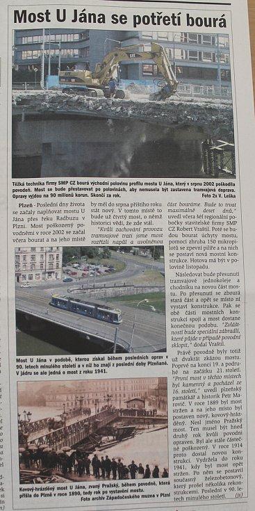 Plzeňský deník, 10. září 2005