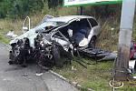 Dopravní nehoda v Plzni na Vejprnické.
