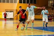 Futsalisté plzeňského Interobalu porazili v posledním kole základní části Helas Brno 9:2. Kapitán Lukáš Rešetár zaznamenal hattrick.