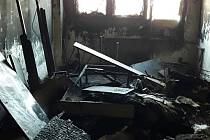 Výbuch a požár na ubytovně v Lobezské ulici v Plzni.