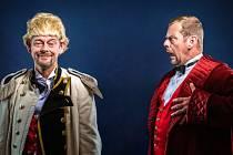 Ze zkoušek. Martin Zahálka ml. a Martin Stránský zkoušejí hru Brouk v hlavě.