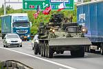 Konvoj americké armády míří přes Českou republiku na cvičení Saber Strike do Pobaltí.