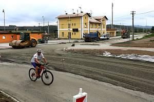 Stavba přestupního uzlu v Nepomuku a Blovicích.