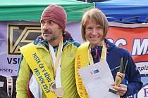 Na snímku loňští mistři v běhu na 100 km z Plzně (zleva) Štěpán Boháček a Radka Churaňová.