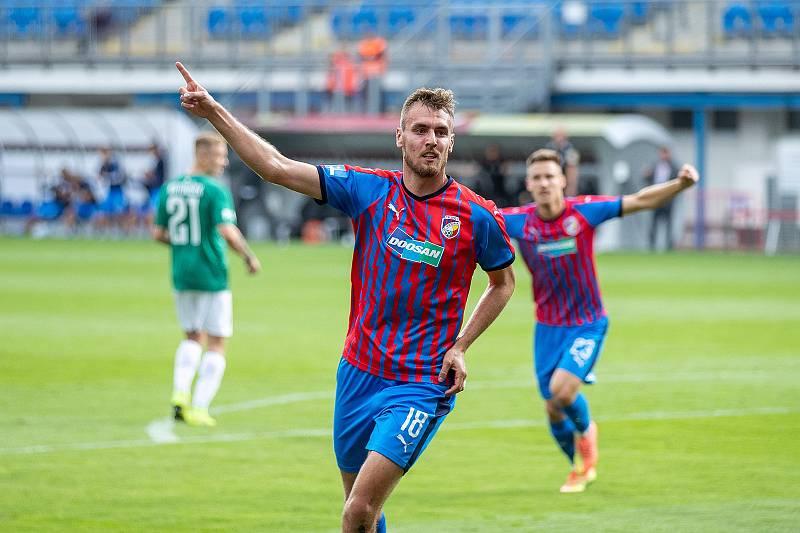 Útočník Tomáš Chorý vstřelil proti Jablonci svůj pátý gól v této sezoně. Plzeňští fotbalisté tak začali nadstavbu o titul vítězstvím 2:0. Zítra jedou na Slavii.